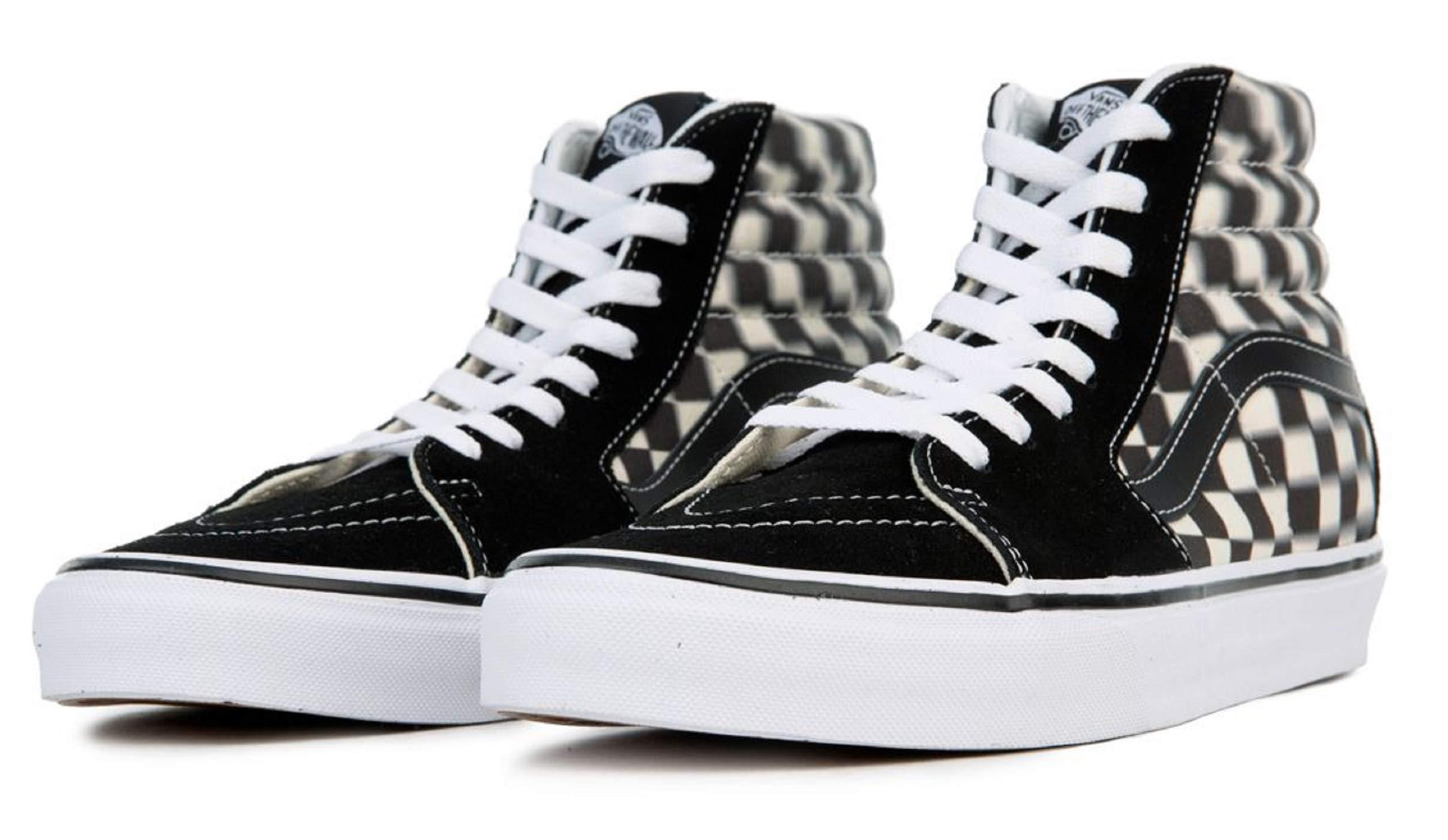 a54a5c19bd6924 Vans SK8-HI Blur Check Mens Fashion-Sneakers VN0A38GEVJM 12 - Black Classic  White