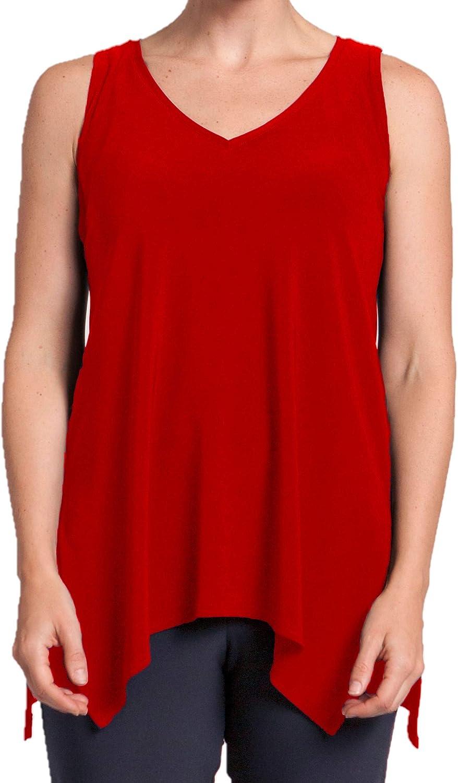 Sympli Womens Sleeveless Go to Wide Vneck Style 21112R