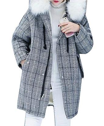 Amazon.com: Etecredpow - Chaqueta de lana con capucha y ...