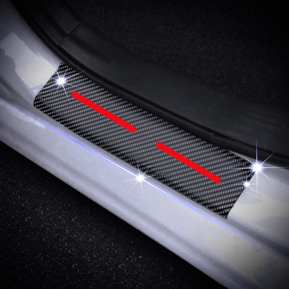 Car Styling for Hummer H3 Carbon Fiber Sticker Car Door Sill Door Entry Scuff Plates Pedal Guards Sills Cover Stickers Auto Part 4PCS