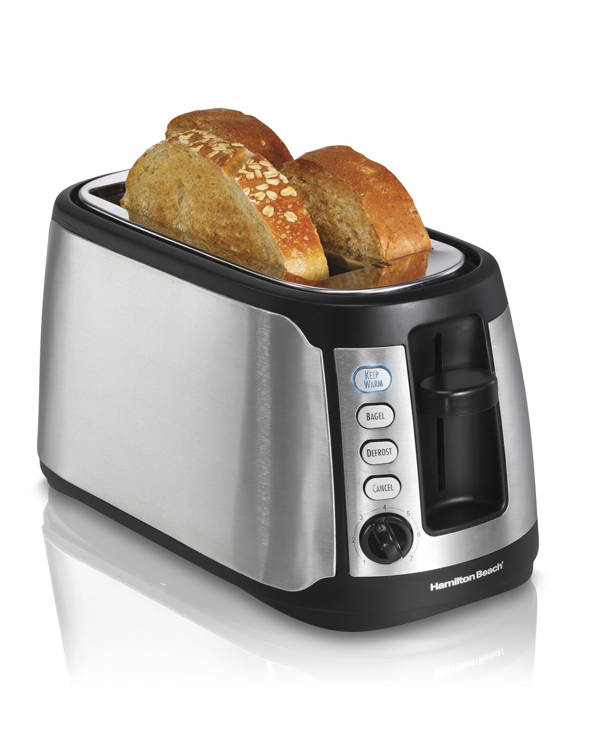 Amazon Hamilton Beach 4 Slice Long Slot Keep Warm Toaster
