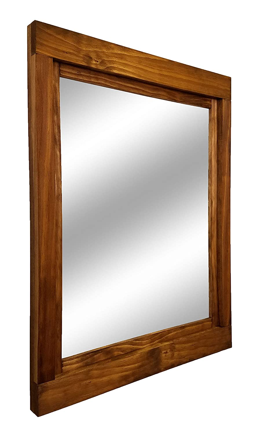 Bathroom Mirror Decor Entryway Farmhouse Large Framed Mirror Available in 5 Sizes and 20 Stain Colors: Shown in Early American Vanity Mirror Bedroom Mirror Large Wall Mirror Rustic Decor