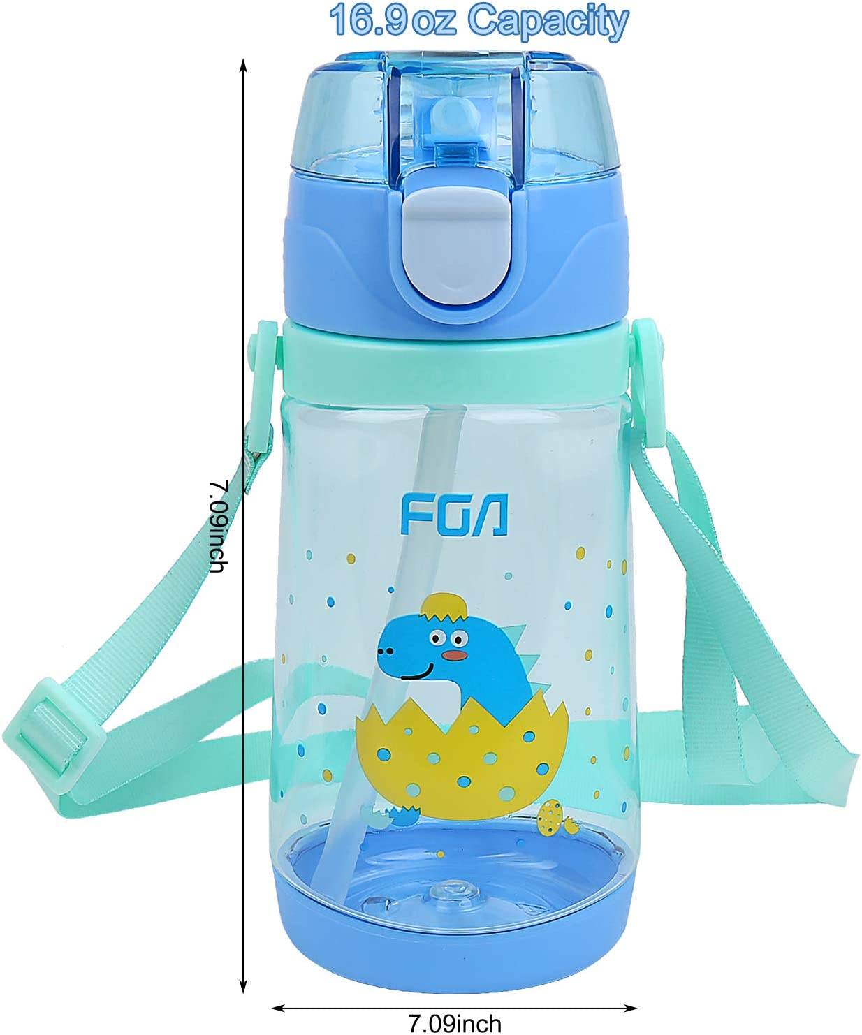 Ion8 Delgada Botella Agua Gatos Astronautas 600ml Sin Fugas