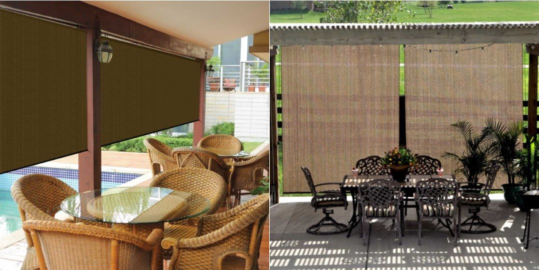 Amazon.com : Coolaroo Outdoor Cordless Roller Shade 8ft by 6ft ...