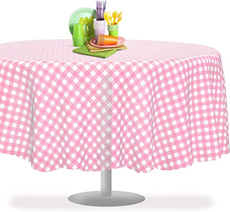 x 108 Inch Rectangle Checkered Racing/  Flag Table Cover By Grandipity Black Checkered Gingham 12 Pack Premium Disposable Plastic Tablecloth 54 Inch