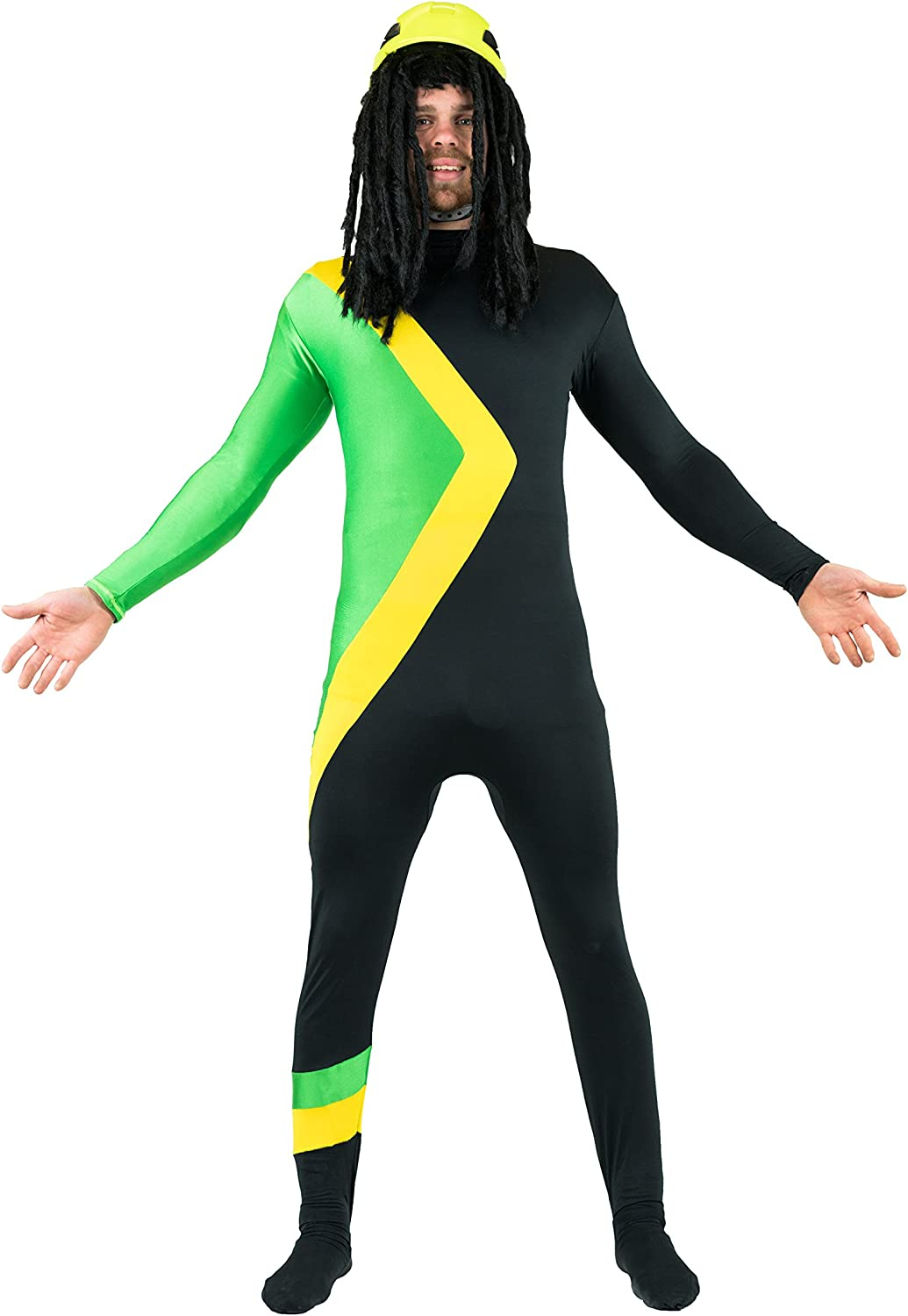 Bodysocks Fancy Dress Bobsleigh Jamaicano Disfraz (XXL): Amazon.es: Juguetes y juegos