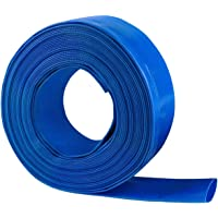 Eastrans 1.5'' X 50 FT Heavy Duty Reinforced PVC Lay Flat Discharge and Backwash Hose for Swimming Pools