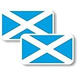 Vinyl sticker/decal Small 70mm Scotland flag - pair