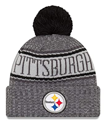 New Era NFL Pittsburgh Steelers 2018 Sideline Graphite Sport Knit   Amazon.co.uk  Sports   Outdoors efbb08349