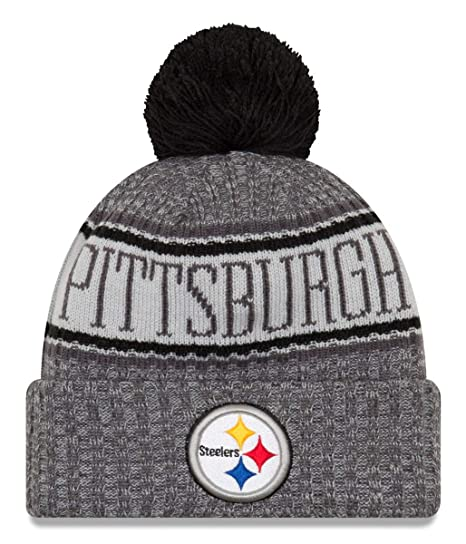 8a7e7e7afee New Era NFL Pittsburgh Steelers 2018 Sideline Graphite Sport Knit   Amazon.co.uk  Sports   Outdoors