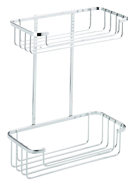 Tier basket shower caddy mild steel rust free stick n lock bathroom - Categories