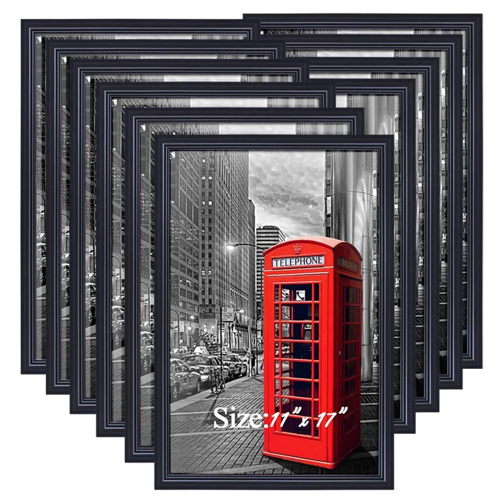 PETAFLOP Poster Frames 11x17 Picture Frame Black, Pack of 10 by PETAFLOP