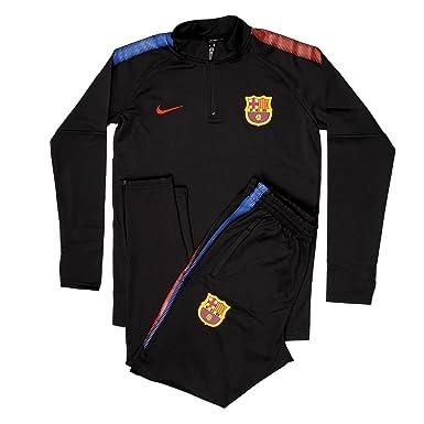 Ss   Spain Sports Fan Soccer Barcelona Football Club Adult Black Half Zip Jacket