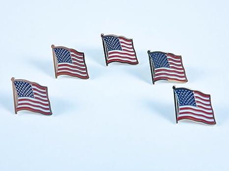 Lot de 5 la bandera americana patriótica Pin, chaleco
