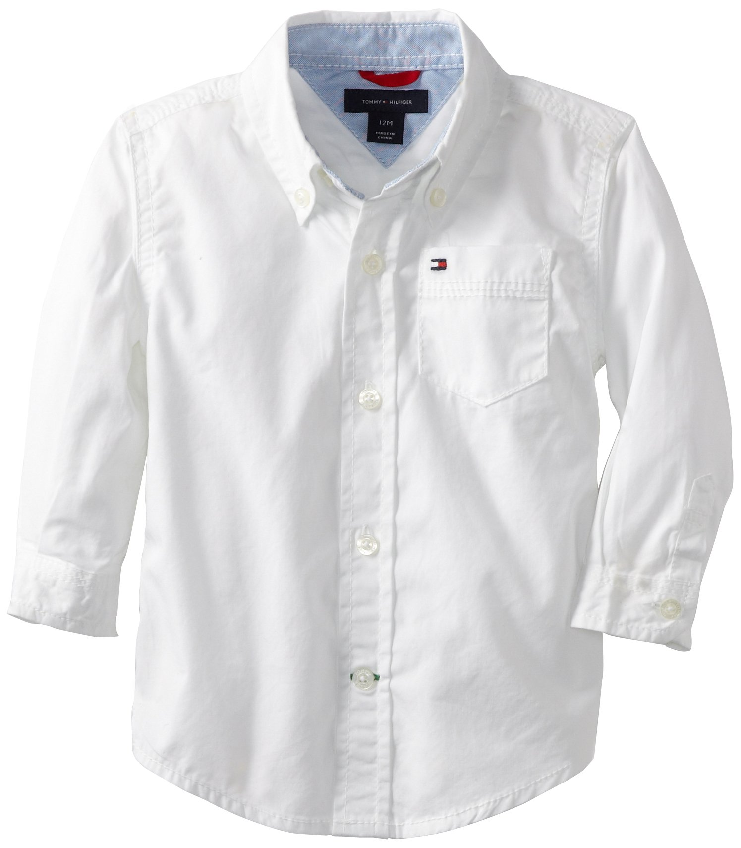 Tommy Hilfiger Baby Boys' Classic Shirt, White, 24 Months by Tommy Hilfiger