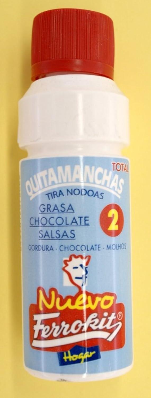 QUITA MANCHAS DE GRASA CHOCOLATE SALSAS BOLIGRAFO ROTULADOR 50 ML. FERROKIT: Amazon.es: Hogar