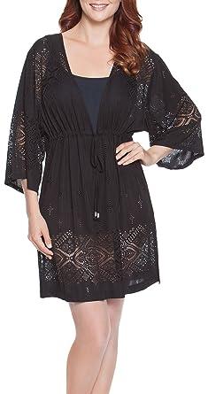 abdac741c94f0 Amazon.com  Dotti Dresses Gypsy Dance Kimono Tunic-Black-M  Shoes