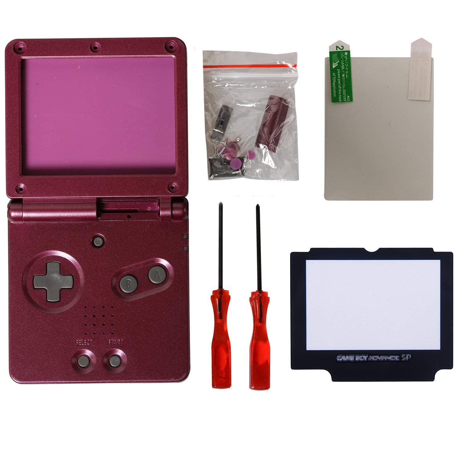 eJiasu Full Housing Shell Case Cover Pack Replacement Repair Parts for Gameboy Advance SP GBA SP (10PCS Multicolor GBA SP Shells)
