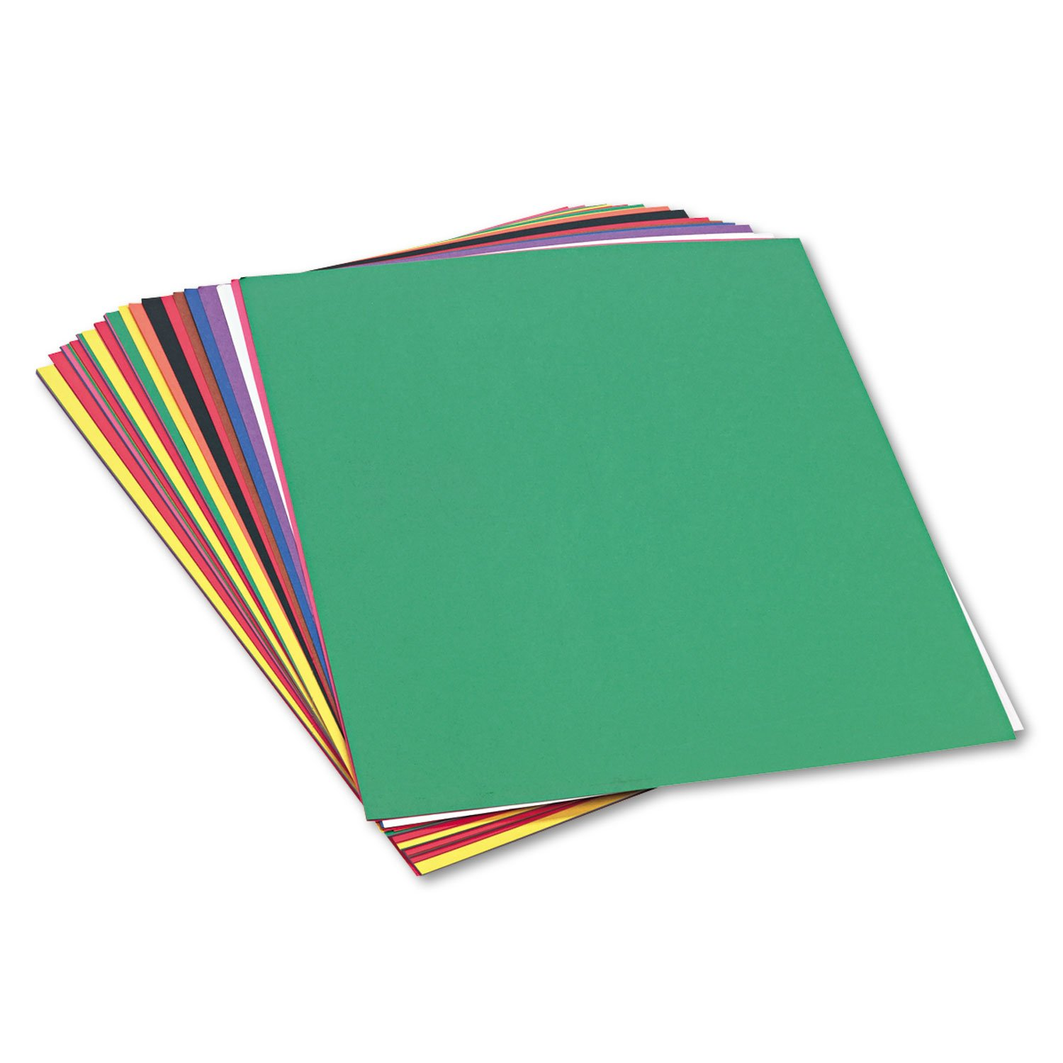 SunWorks 6523 Construction Paper, 58 lbs., 24 x 36, Assorted (Pack of 50 Sheets)