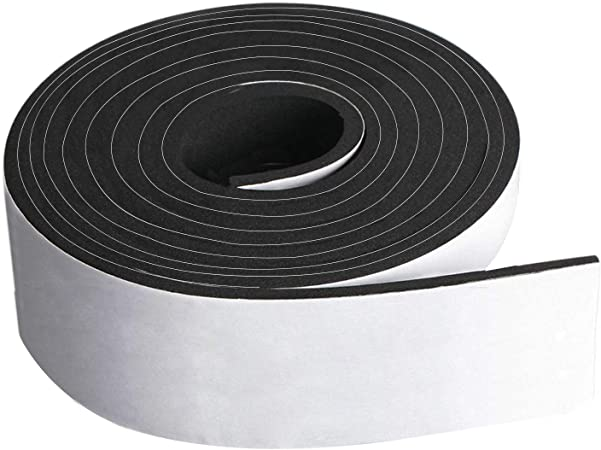 USA Sealing Neoprene Foam Strip with Acrylic Adhesive 1//8 Thick x 1//2 Wide x 10 ft Long