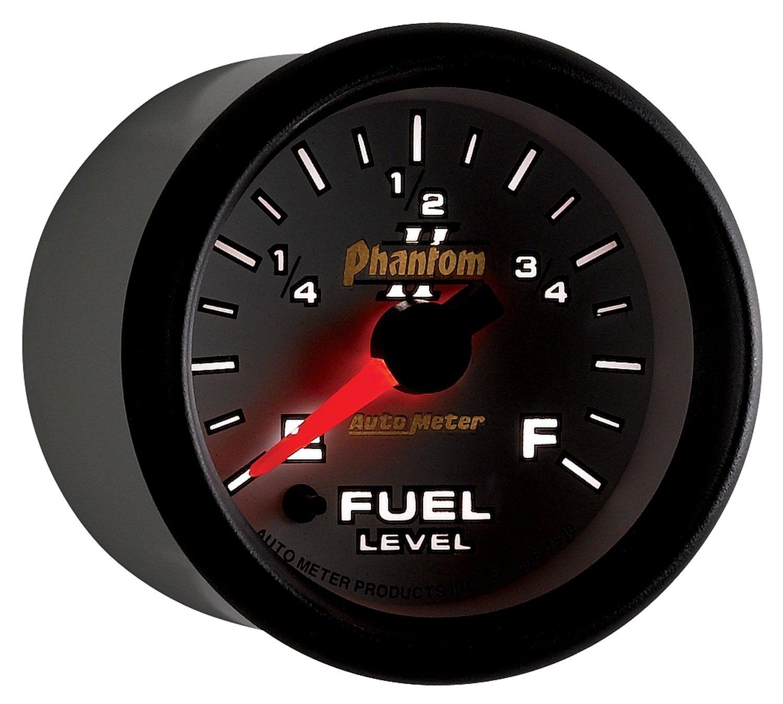 Auto Meter 7510 Phantom II 2-1/16' Universal Stepper Full Sweep Fuel Level Programmable Empty - Full Range Gauge