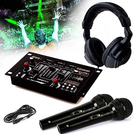 Auricular Dj Sono + mesa de mezclas dj21-usb-mkii Ibiza Sound + 2 ...