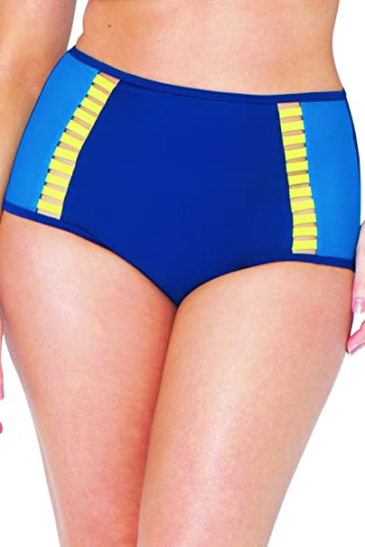 b432b36e9a989 Curvy Kate Women's Maya High Waisted Brief Bikini Bottoms: Amazon.co.uk:  Clothing