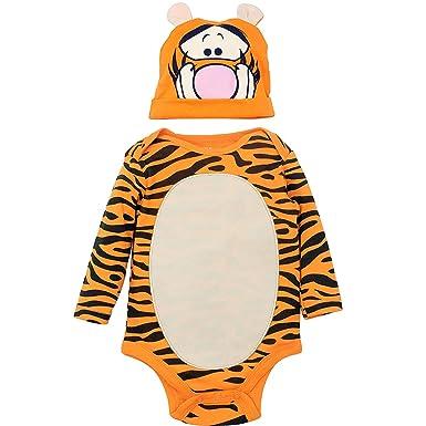 1b79e094e Disney Tigger Baby Boys' Costume Bodysuit with Hat Set, Orange 3-6 Months