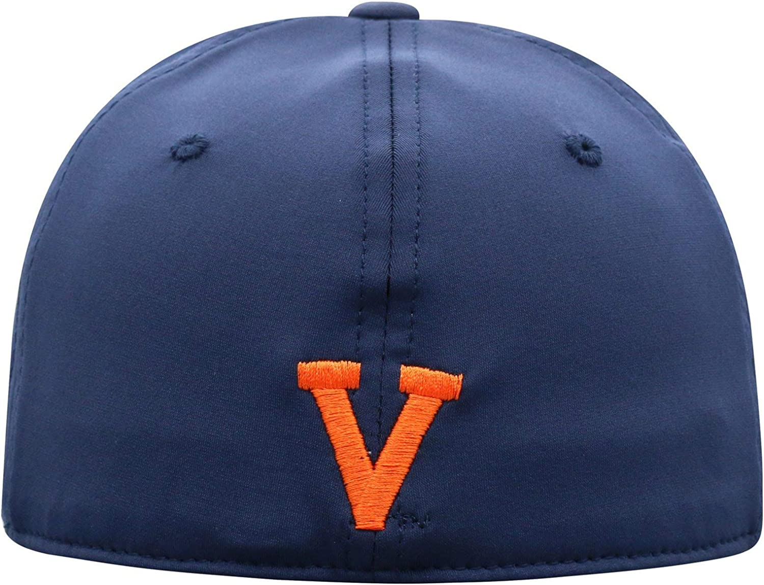 University of Virginia UVA Cavaliers Blue Orange Intruder V with Swords Top Adult Mens//Womens//Youth Flex Fitted Hat//Cap Size Medium Large