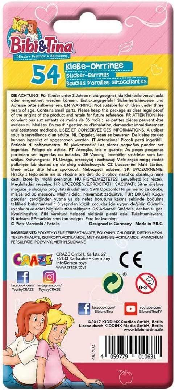 multicolor Craze Bibibi and tina 162 unidades unisex child Pendientes para ni/ños