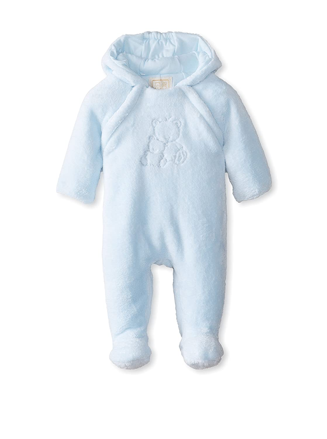 Emile et Rose Baby Boys Blue Bear Fleece Winter Pramsuit Emile-et-rose