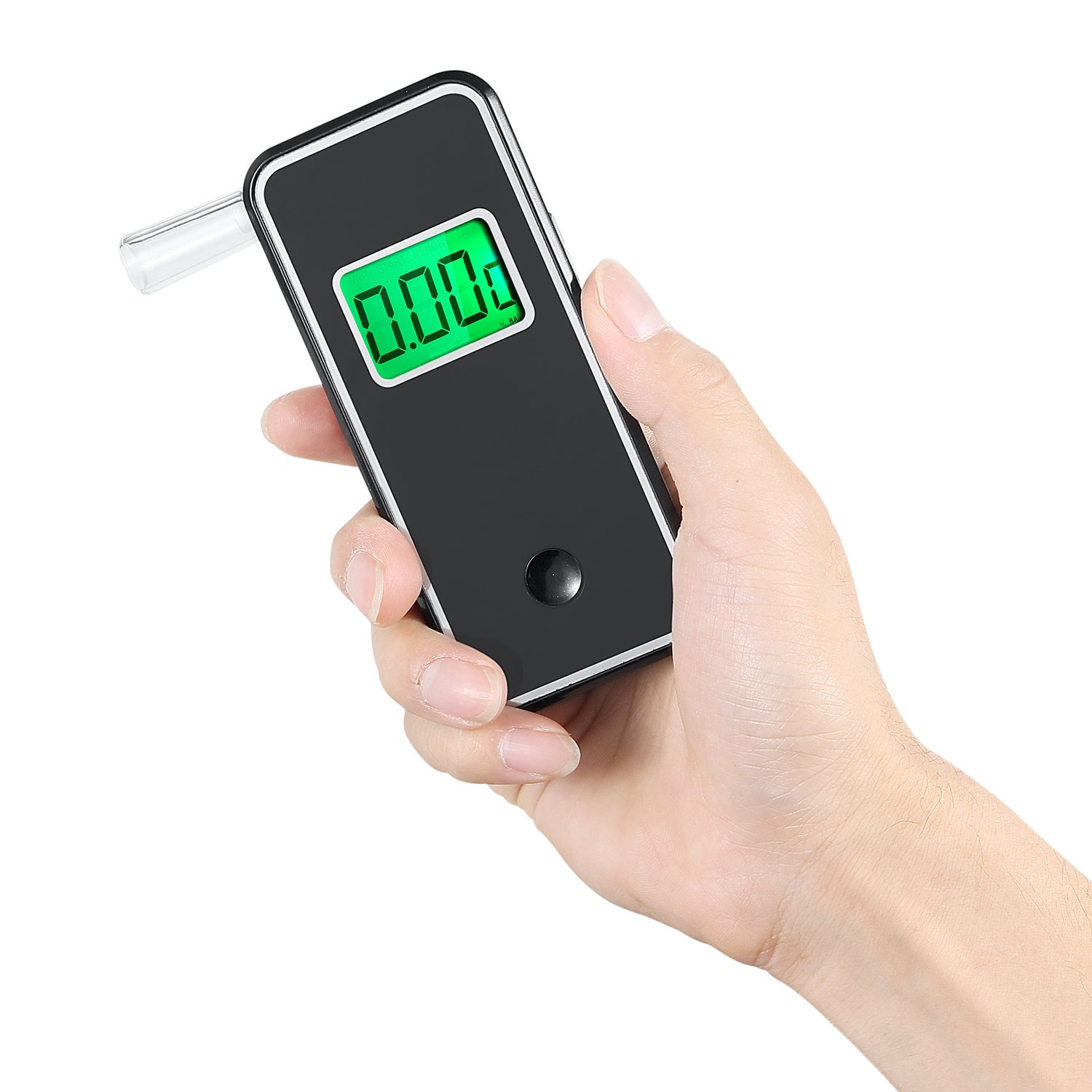 Breathalyzer Anntoo Professional Grade Portable Digital Alcohol Tester with 5 Mouthpieces for Personal Use - Gray by Anntoo (Image #4)
