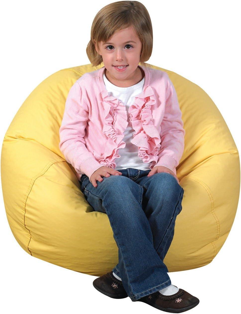 Children s Factory 26 Round Bean Bag – Yellow Classroom Furniture CF610-047