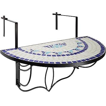 TecTake Table de Jardin Balcon Pliante en Mosaïque - Diverses ...