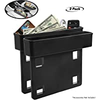 Lebogner Between Car Seat Gap Filler Organizer, 2 Pack Side Of Center Console Storage Box For Money, CellPhone, Coins…