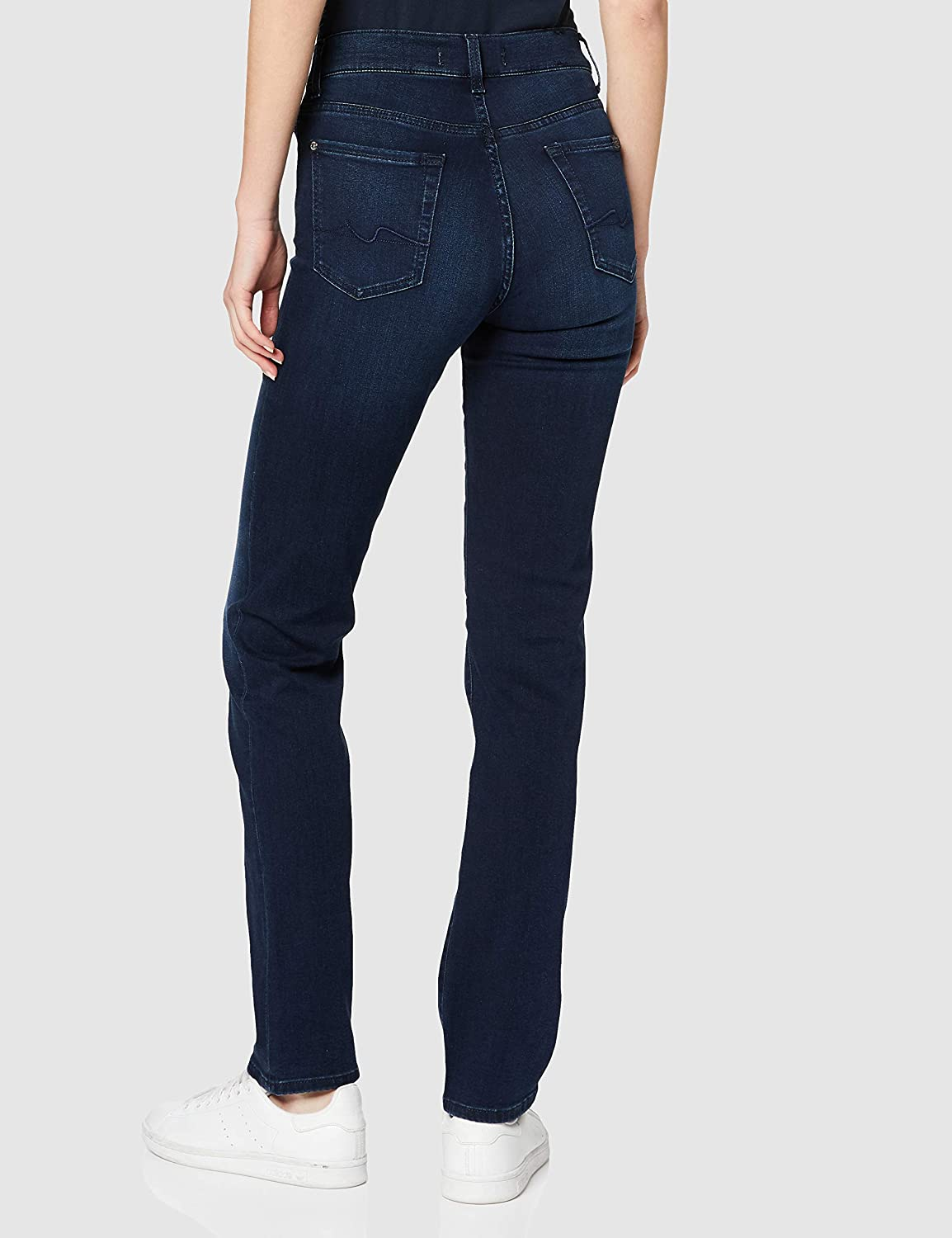 7 For All Mankind Dames The Straight Jeans blauw (Dark Blue Uf).
