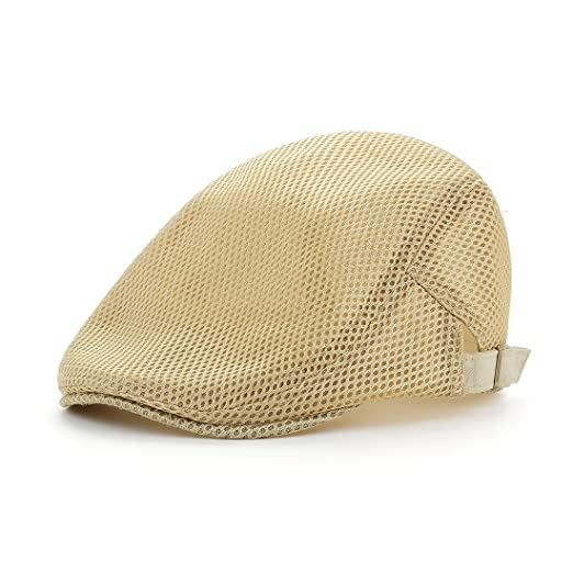 49b786b2787 Leucos Ticte Men Breathable Mesh Summer Hat Newsboy Beret Ivy Cabbie Flat  Cap