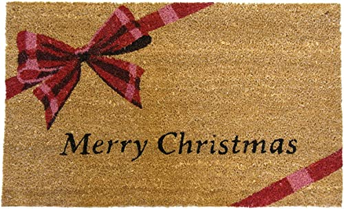 Rubber-Cal A Gift Merry Christmas Doormat Decorative Floor Mat, 18 x 30-Inch
