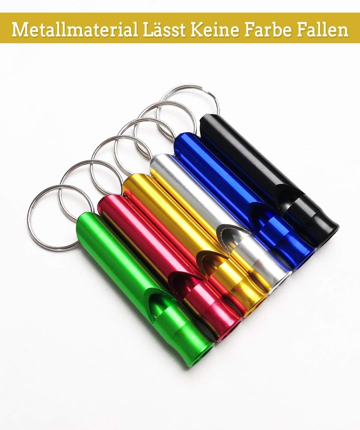 Miniatur Sicherheitsausr/üstung ANNVCHI Emergency Whistle Pfeife mit Schl/üsselring 6 St/ück Laut und Deutlich