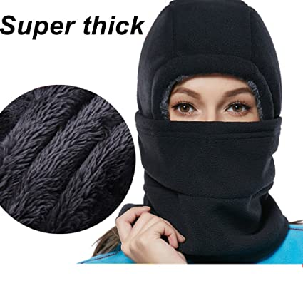 SYQ Super Thick Adjustable Lightweight Soft Balaclava Scarf Winter  Windproof Ski Face Mask for Men Women Kids ef5836a28e