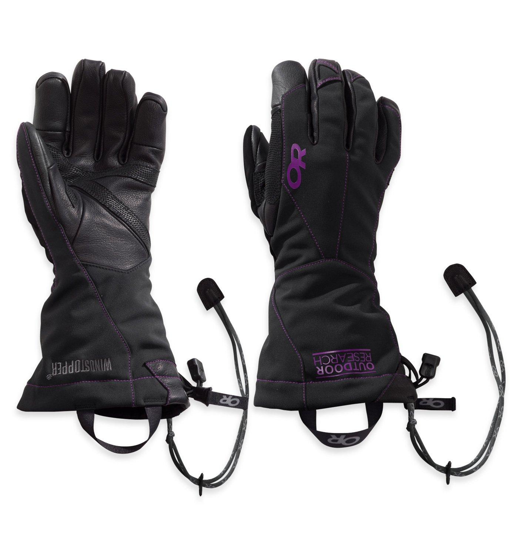 Outdoor Research Women's Luminary Sensor Gloves, Black/Ultraviolet, S