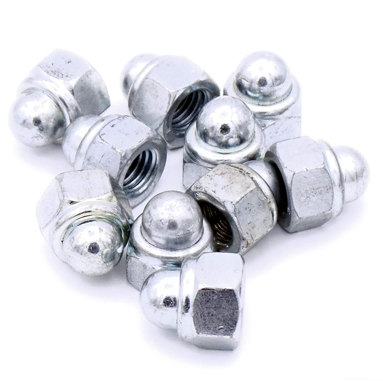 M6 (6mm) Nyloc Dome Cap Nuts - Steel (Pack of 10) Singularity Supplies Ltd