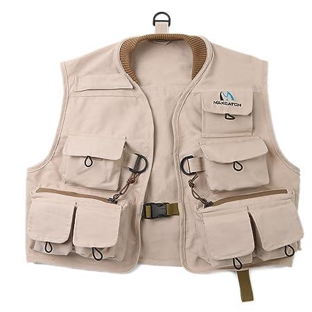 M MAXIMUMCATCH Maxcatch Kids Fly Fishing Vest Youth Vest Pack, 100 Cotton