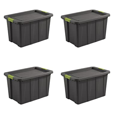 Sterilite 15273V04 30 gallon/114 L Latching Tuff1 Tote (4 Pack)
