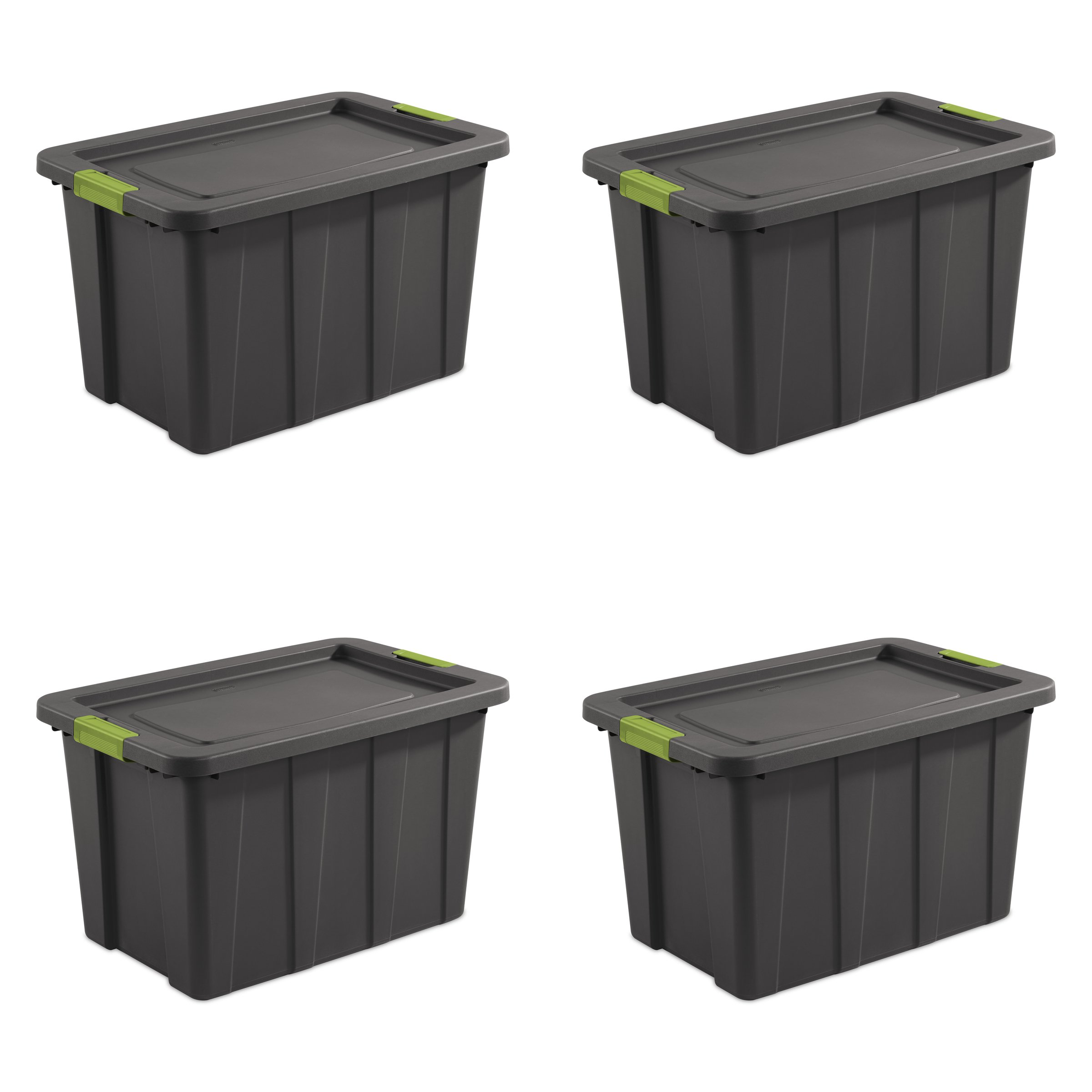 STERILITE 15273V04 30 gallon/114 L Latching Tuff1 Tote (4 Pack)
