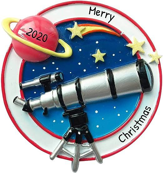 Christmas Lights In Jupiter 2020 Amazon.com: Personalized Telescope Christmas Tree Ornament 2020