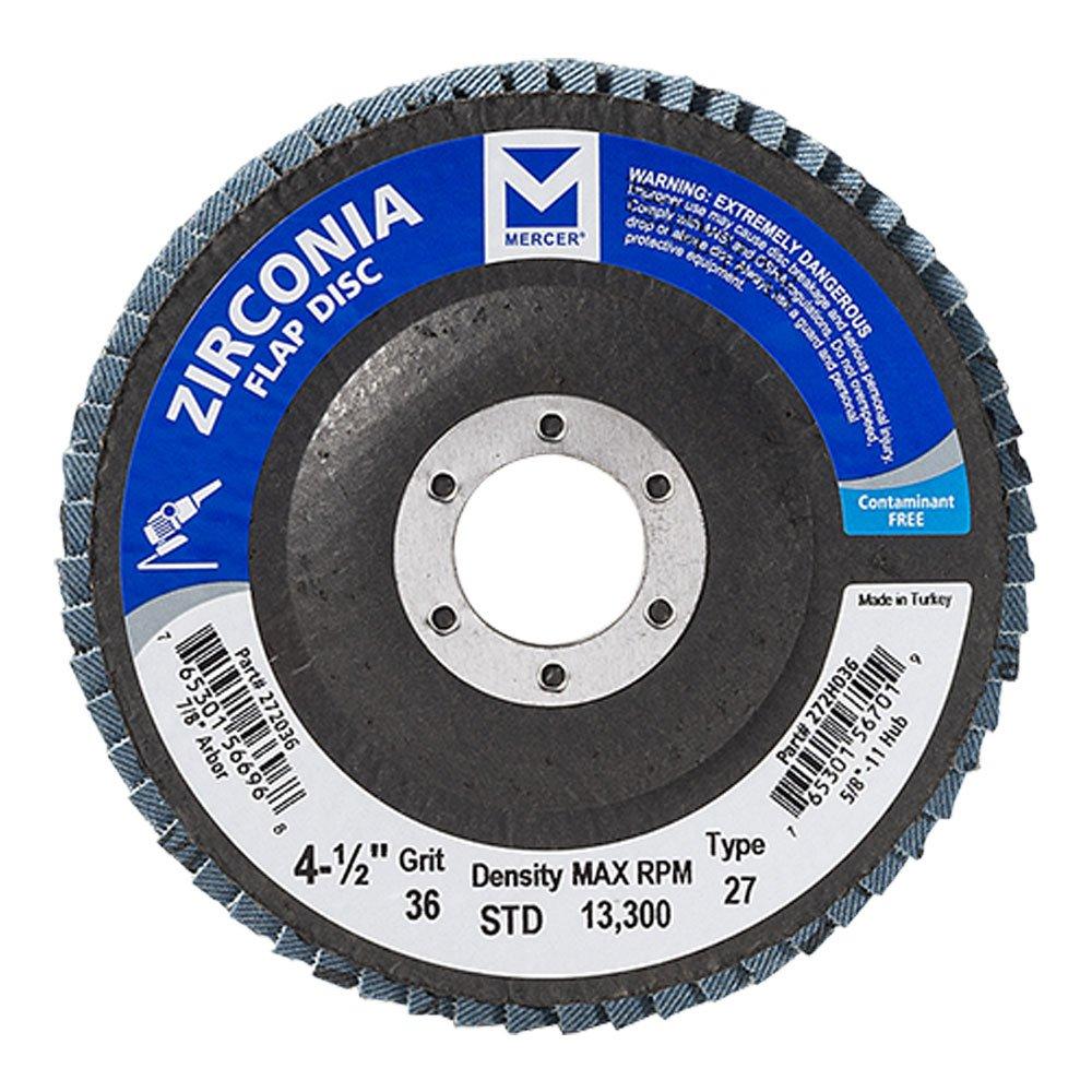 Mercer Industries 272036 Zirconia Flap Disc, Type