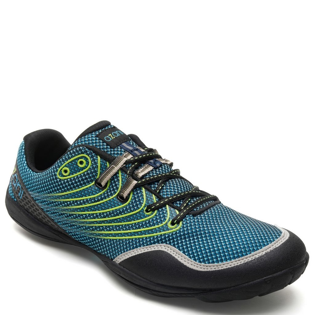 AZANI Rapid Racer Minimal Running Shoes | Barefoot Trail and Road Running Shoe Fitness, Athletic Zero Drop Sneaker Blue