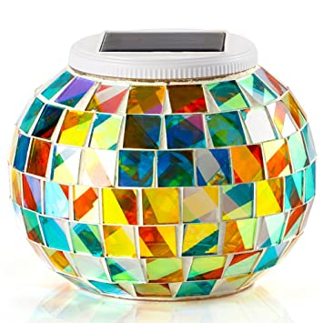 Cadeau d\'Ambiance} GRDE® Mosaic Globe Lampe Solaire Décoration ...
