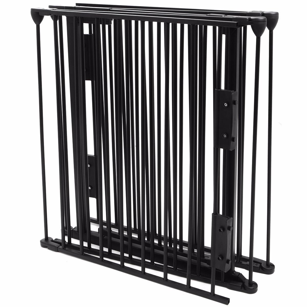 (US Stock) Fireplace Fence Baby Safety Pet Gate Dog Barrier Enclose Indoor Home, 25''x30'', Black by Eminentshop